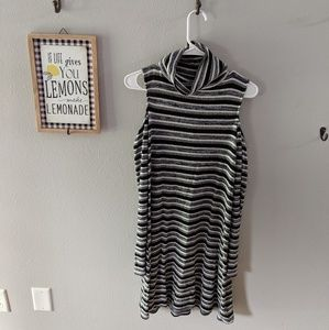 Striped tutrtleneck dress